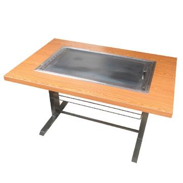 伊東金属 お好み焼きテーブル 幅800×奥行750×高さ700 [IM-180P]【業務用】【送料無料】