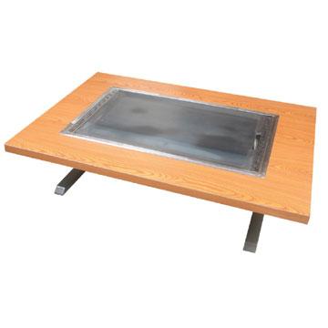 伊東金属 お好み焼きテーブル 幅800×奥行750×高さ330 [IM-480H]【業務用】【送料無料】