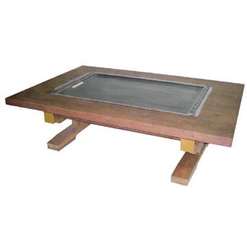 伊東金属 お好み焼きテーブル 幅800×奥行750×高さ330 [IM-580H]【業務用】【送料無料】