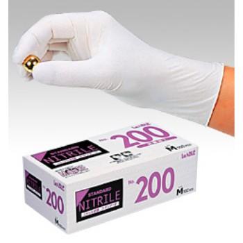 使い捨て極薄ニトリル手袋 パウダー付 1ケース LL 【業務用】【送料無料】