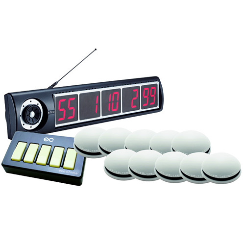 エコチャイム受信表示機/丸型送信機(ホワイト)10台セット/送料無料