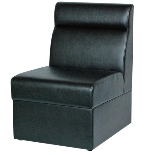 【即納可】ボックスソファ W500 ブラックレザー 幅500×奥行600×高さ750(mm) 座面高さ:380(mm)【業務用】【送料無料】