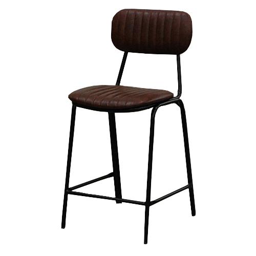 TB オリジナル 洋風パイプ椅子 OLE! ミドルカウンターチェア ブラウンレザー OLE!-MC-BR 幅460×奥行550×高さ970、シート高630 送料無料