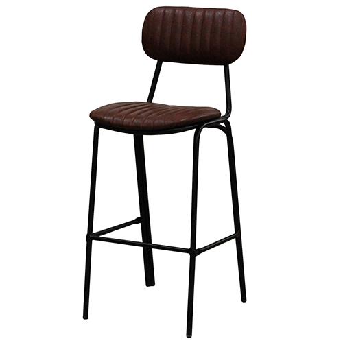 TB オリジナル 洋風パイプ椅子 OLE! ハイカウンターチェア ブラウンレザー OLE!-HC-BR 幅460×奥行550×高さ1170、シート高760 送料無料