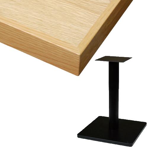 【組立式】TB オーク突板(節有り)テーブル 幅600×奥行750×高さ720(mm) 天板色:ナチュラル/業務用/新品/送料別途見積【テンポスオリジナル】