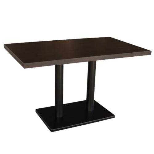 テンポスオリジナル テーブル(集成材)幅1200×奥行700×高さ700 天板厚み40 DB色 送料無料】【業務用】