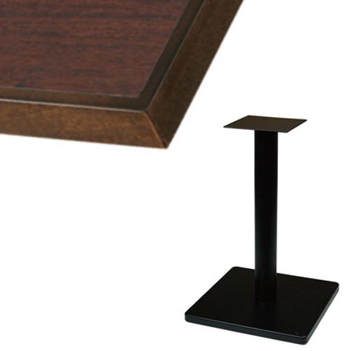 【組立式】 TB メラミン化粧板(木ブチ)テーブル 幅600×奥行750×高さ710(mm) ブラウン色/業務用/新品/送料別【テンポスオリジナル】