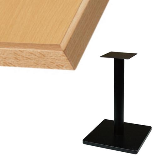 【組立式】 TB メラミン化粧板(木ブチ)テーブル 幅600×奥行750×高さ710(mm) ナチュラル色/業務用/新品/送料別【テンポスオリジナル】