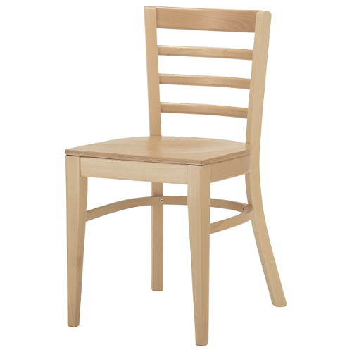 QUON(クオン オーツー) 木製イス ヘキサイスN 板座(ウッドシート/張地無し) /(業務用椅子/新品)(送料無料)
