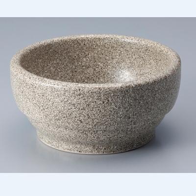 韓国食器 ビビンバ鍋 グレー石目調 お気に入 お見舞い 14cm 新品 14×H6.5cm 業務用