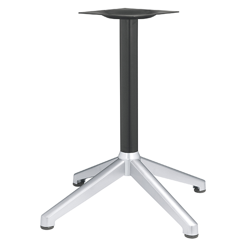 ハヤシ アルミ鋳物テーブル脚 ベースサイズ:A890×B640×C640×高さ700mmまで指定可 品番:DC-CK-880 塗装カラー:14AM ポール:60φ/送料別
