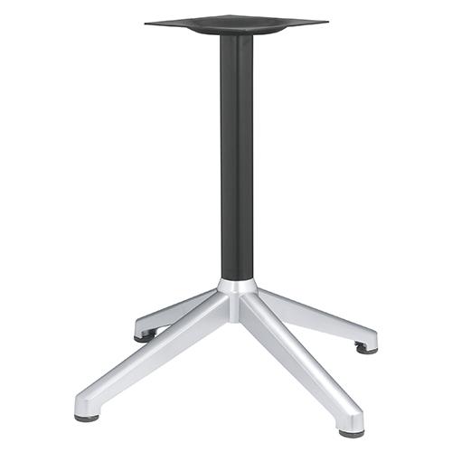 ハヤシ アルミ鋳物テーブル脚 ベースサイズ:A700×B505×C505×高さ700mmまで指定可 品番:DC-CK-690 塗装カラー:14AM ポール:76φ/送料別