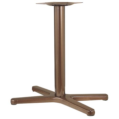 ハヤシ アルミ鋳物テーブル脚 ベースサイズ:A702×B586×C428×高さ700mmまで指定可 品番:BT-X-700 塗装カラー:99 ポール:76φ/送料別
