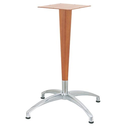 ハヤシ アルミダイキャストテーブル脚 ベースサイズ:A804×B580×C580×高さ675mm~720mm 品番:CD-N-WP-800 塗装カラー:BR ポール:ラバーウッド/送料別