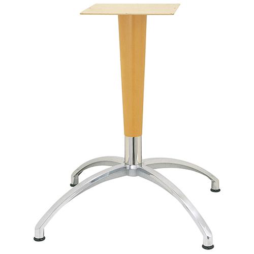 ハヤシ アルミダイキャストテーブル脚 ベースサイズ:A804×B580×C580×高さ675mm~720mm 品番:CD-N-WP-800 塗装カラー:NT ポール:ラバーウッド/送料別