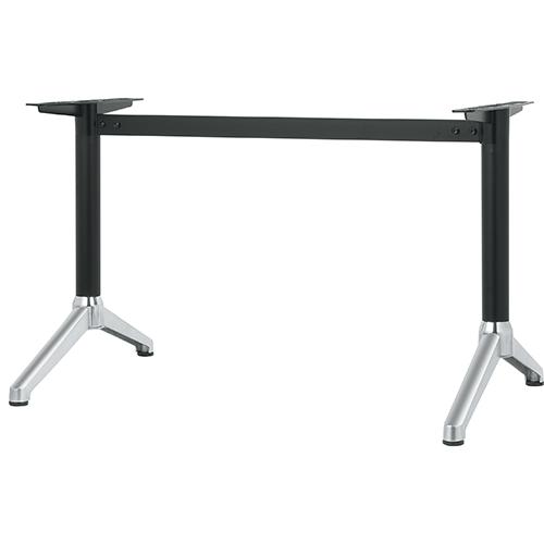 ハヤシ アルミ鋳物テーブル脚 ベースサイズ:A700×高さ700mm迄指定可×間口 芯々 1300mm 品番:DC-Y-700 返品送料無料 限定品 送料別 ポール:60φ 塗装カラー:14AM