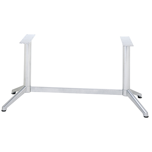 ハヤシ アルミ鋳物テーブル脚 100%品質保証 ベースサイズ:A608×B185×高さ700mm迄指定可×間口 芯々 1000mm 品番:DC-V-350 塗装カラー:88 ポール:76φ 評価 送料別