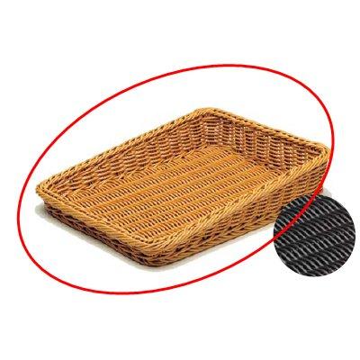 樹脂バスケット太渕 傾斜型 大 6-71-1 茶 【業務用】【グループT】, TNS 5860276e