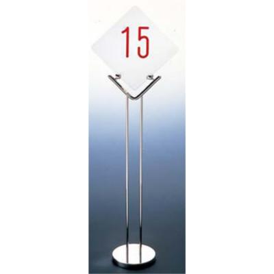 UK 18-8 テーブルナンバースタンド プレーンベース 1010/業務用/新品/テンポス