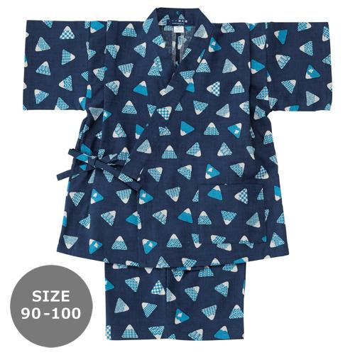 濱文様 90-100サイズ キッズ甚平 富士山むすび