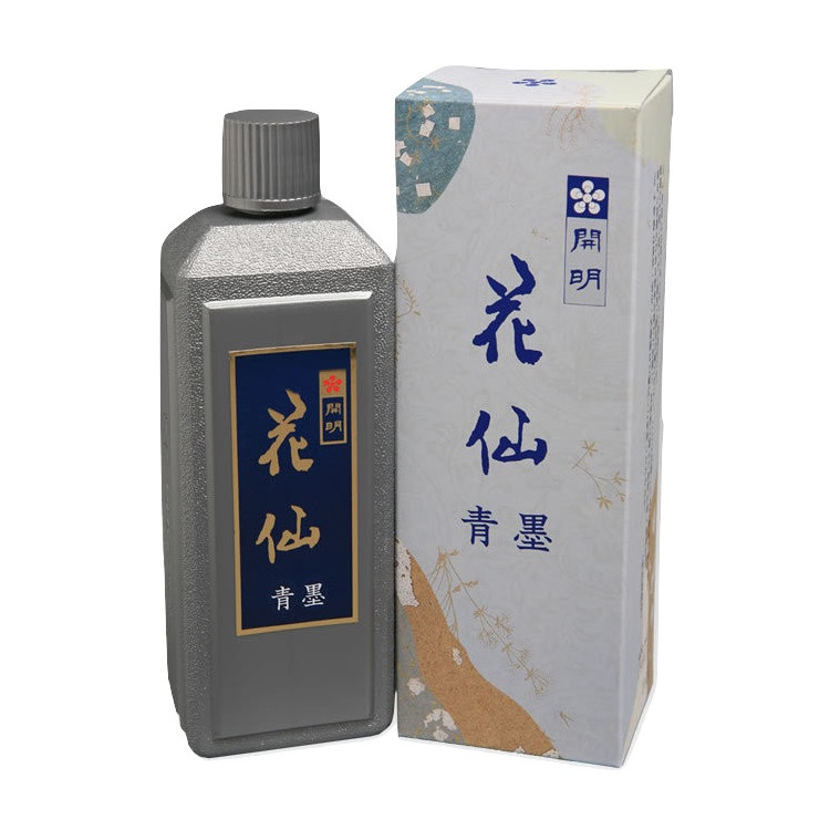 開明墨汁 花仙・青墨(100ml)6本セット