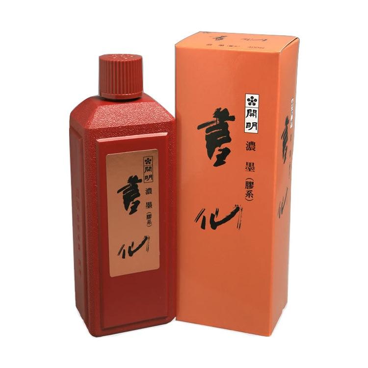 開明墨汁 書仙・濃墨(400ml)6本セット