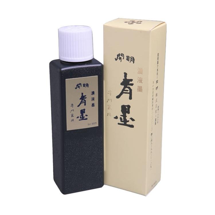 開明墨汁 青墨(100ml)10本セット