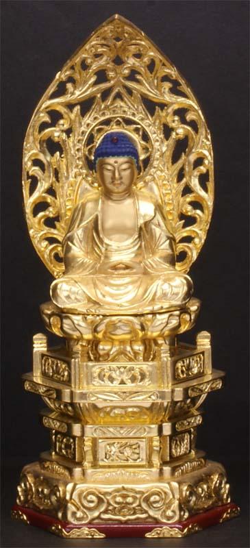 御仏像 釈迦如来座像御本尊 [天台宗用][禅宗用] 京型2寸 ●お仏壇・仏具の浜屋