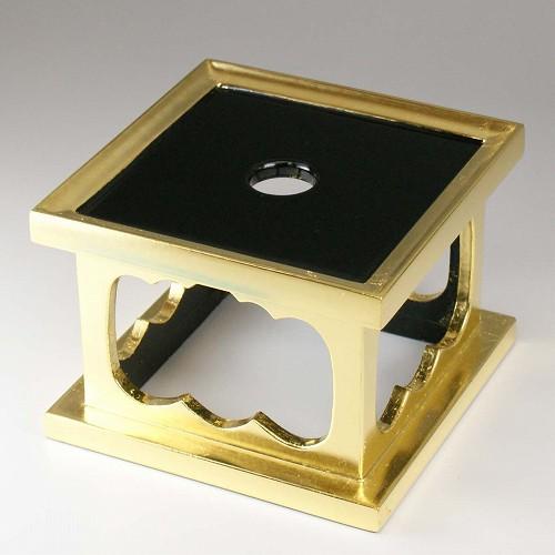 リン台(おりん用台) 木製 惣金 4寸 ●お仏壇・仏具の浜屋