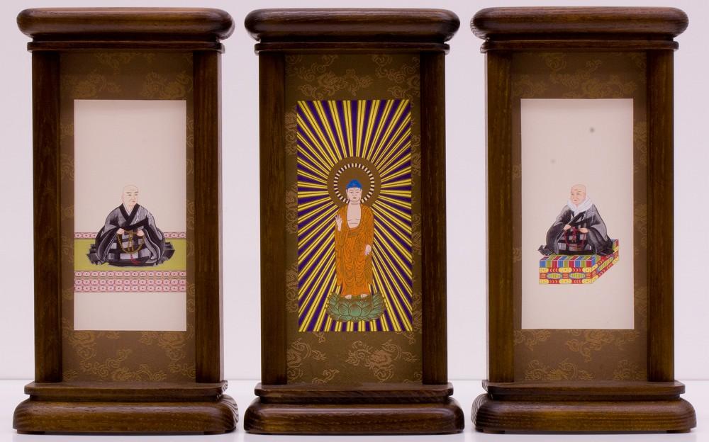 スタンド型掛軸 御本尊セット [浄土真宗本願寺派用] (大サイズ) ●お仏壇・仏具の浜屋