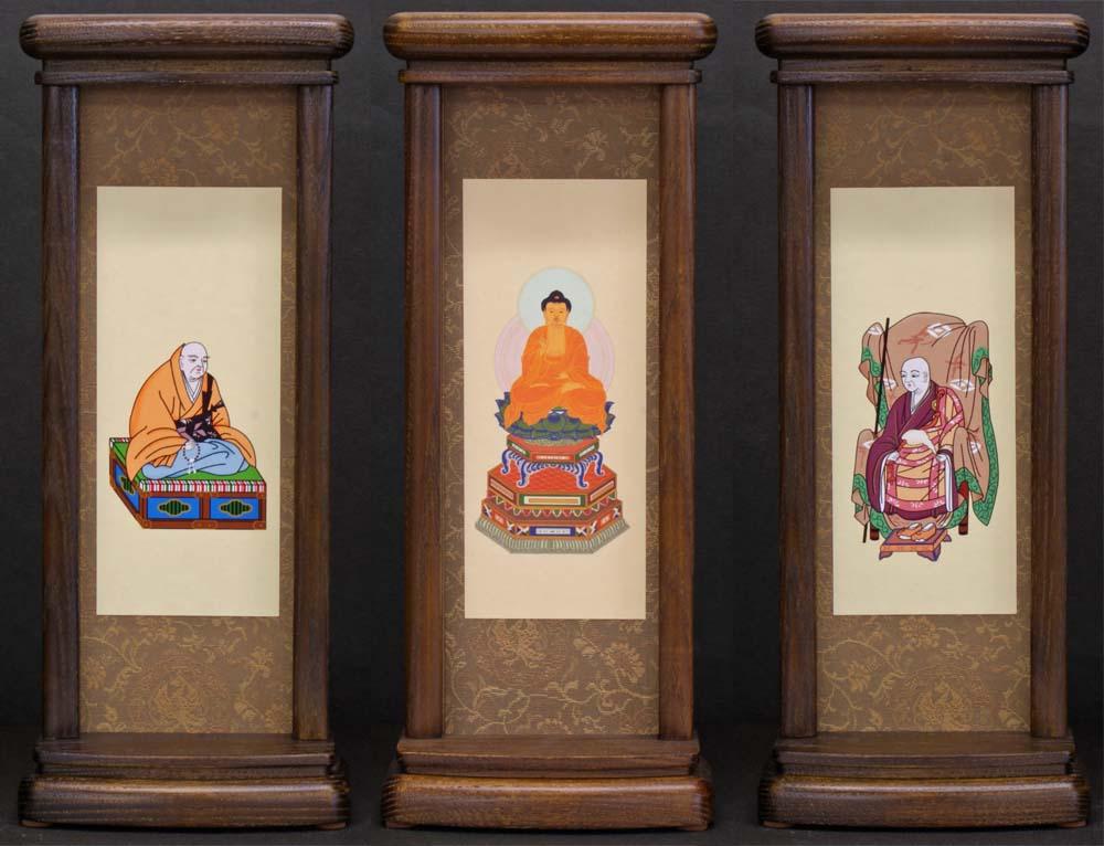 スタンド型掛軸 御本尊セット [臨済宗妙心寺派用] (中サイズ) ●お仏壇・仏具の浜屋