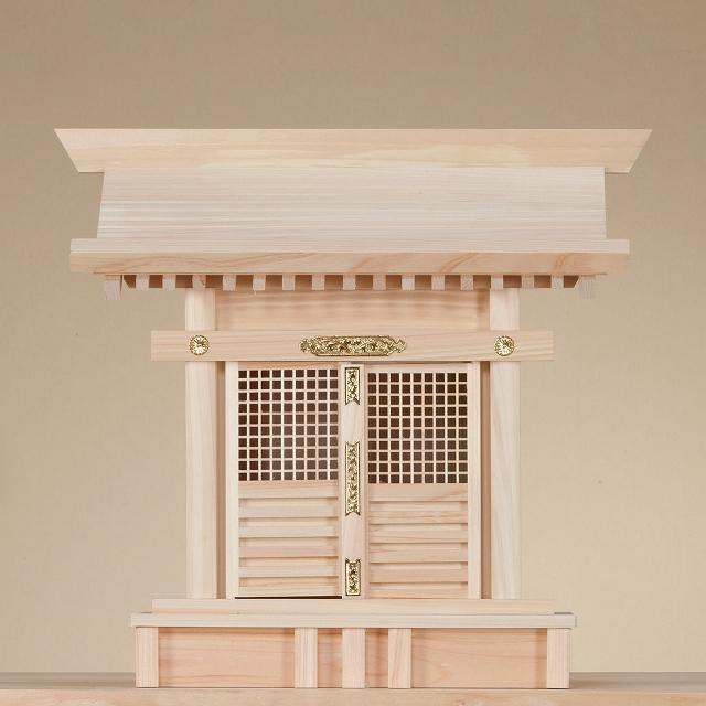 格子宮 (ひのき) 横巾42×高さ39cm 【神棚】 ●お仏壇・仏具の浜屋