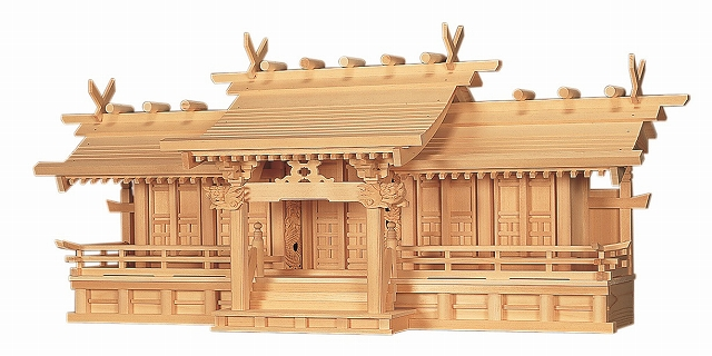 平安五社・中 (木曽ひのき) 横巾115×高さ50cm 【神棚】 ●お仏壇・仏具の浜屋