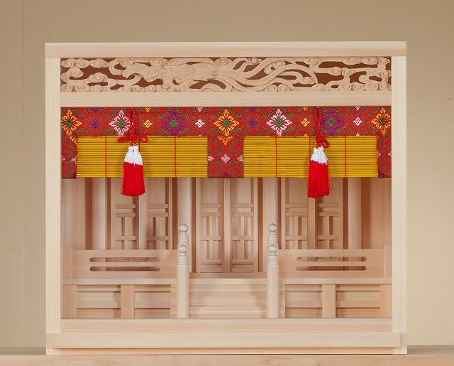 唐戸箱宮 18号彫刻らんま (ひのき) 横巾55×高さ43cm 【神棚】 ●お仏壇・仏具の浜屋