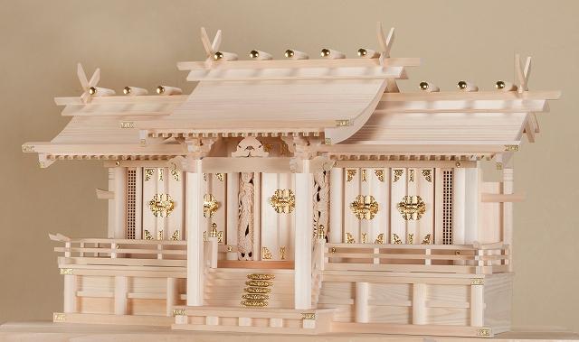 平安五社・大 (木曽ひのき) 横巾118×高さ66cm 【神棚】 ●お仏壇・仏具の浜屋