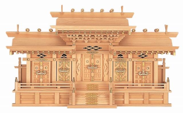 マス組付五社・大 (ひのき) 横巾97×高さ56cm 【神棚】 ●お仏壇・仏具の浜屋