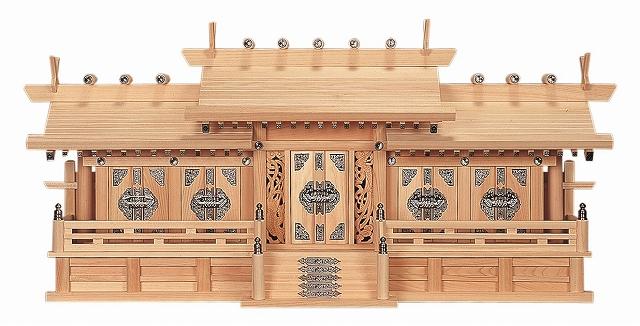 鳳凰五社・中 (ひのき) 横巾97×高さ44cm 【神棚】 ●お仏壇・仏具の浜屋