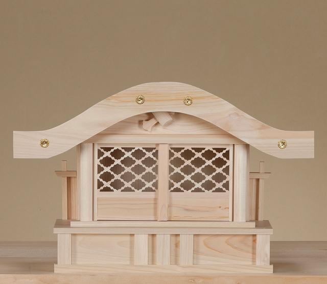 新恵比寿宮・大・格子戸 (ひのき) 横巾45×高さ29cm 【神棚】 ●お仏壇・仏具の浜屋