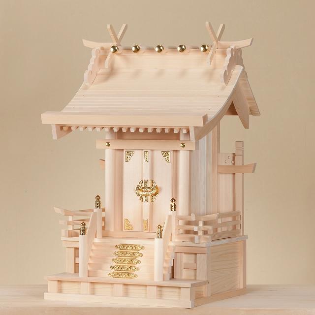高欄宮 5寸 (木曽ひのき) 横巾36×高さ50cm 【神棚】 ●お仏壇・仏具の浜屋