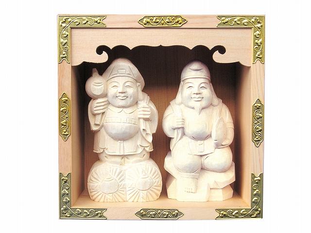 五合マス 恵比寿大黒セット 横巾14cm 【神具】 ●お仏壇・仏具の浜屋
