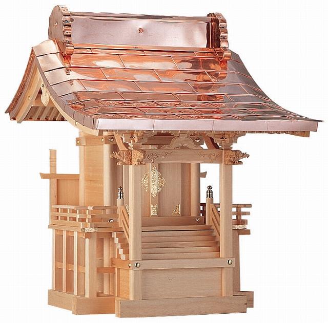 八幡宮 尺(木曽ひのき)外祭用祠 横巾74cm 【外宮】 ●お仏壇 仏具の浜屋