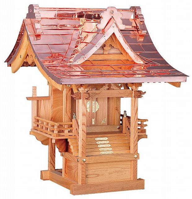 千鳥屋根付 尺(けやき)外祭用祠 横巾67cm 【外宮】 ●お仏壇 仏具の浜屋