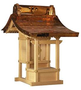 ほこら宮 尺5寸(木曽ひのき)外祭用祠 横巾102cm 【外宮】 ●お仏壇 仏具の浜屋