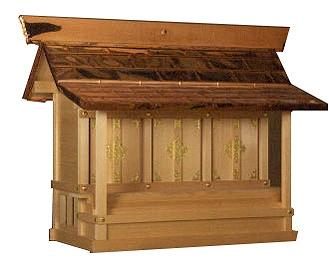 三社宮(木曽ひのき)外祭用祠 横巾118cm 【外宮】 ●お仏壇 仏具の浜屋