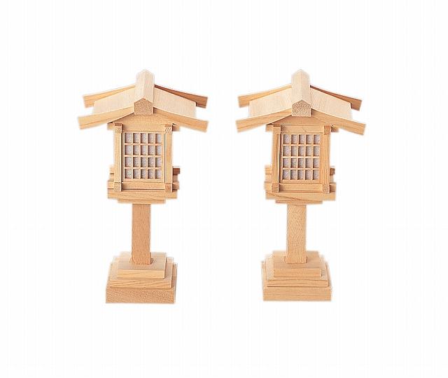 春日燈籠6寸コード式(木曽ひのき) 【神具】 ●お仏壇・仏具の浜屋