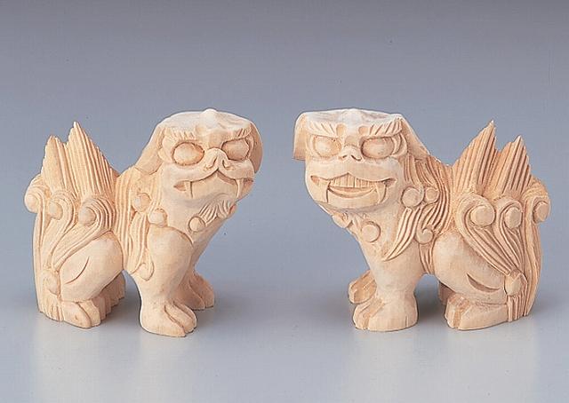木彫こま犬 3寸 【神具】 ●お仏壇・仏具の浜屋