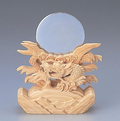 神鏡竜上彫 2寸 【神具】 ●お仏壇・仏具の浜屋
