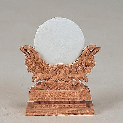 神鏡 2.5寸 (けやき) 【神具】 ●お仏壇・仏具の浜屋