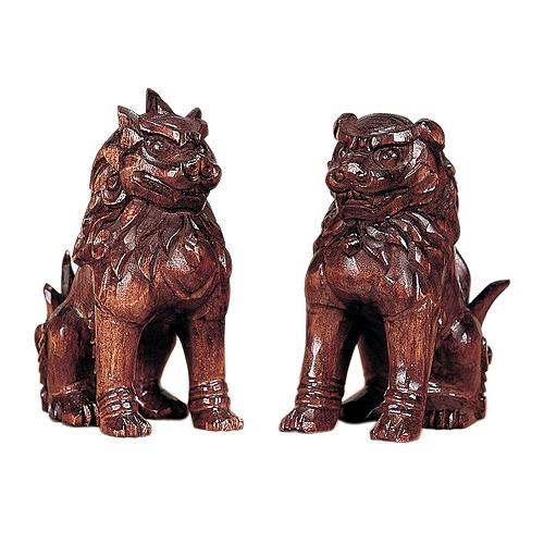 木彫こま犬 4寸 (塗) 【神具】 ●お仏壇・仏具の浜屋