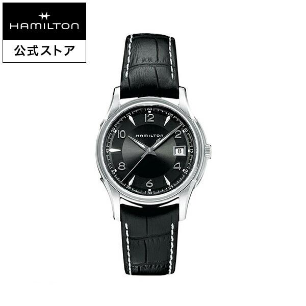 Hamilton ハミルトン 公式 腕時計 JJazzmaster Gent ジャズマスター ジェント メンズ レザー   正規品 時計 メンズ腕時計 ブランド 革ベルト ブラック クォーツ ウォッチ ビジネス 38mm 男性腕時計 クオーツ クォーツ 男性 クールビズ ブラック文字盤